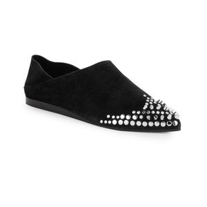 alexander mcqueen • NEW • suede studded loafers